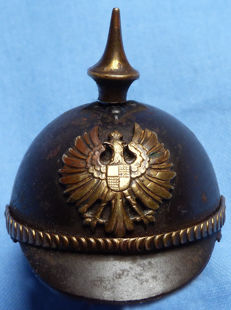 Original WW1 Imperial German Miniature Pickelhaube #2