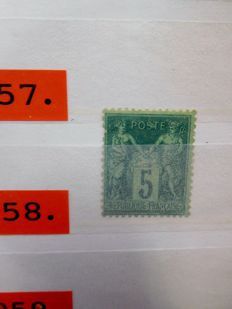 France 1848/1972 - Trade stock in two stock books