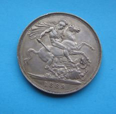 United Kingdom - Crown 1889 Victoria - silver