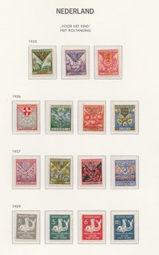 The Netherlands 1925/1933 – syncopated perforation Child series, complete  – NVPH R71 through R101.
