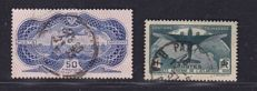 France 1936/1937 - Composition with Yv# 321 + LP 15 + Museum postage cards # 354/55