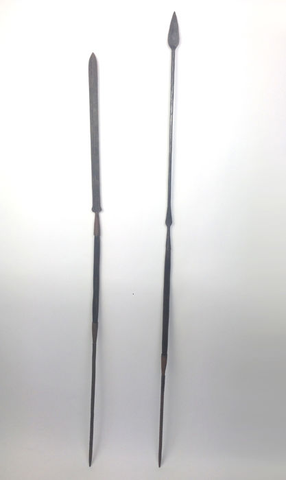 Maasai Lion hunting spear and War spear with ebony grip