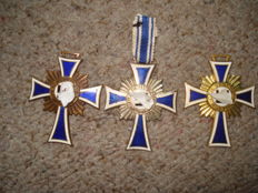 3 Mother Crosses: Gold , Silver, Bronze