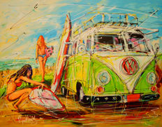 Mathias - Dutch holiday, VW surf bus and girls