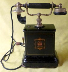 Jydsk - Metal antique telephone - 1900-1930 Denmark.