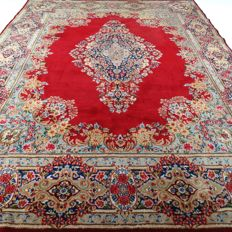 "Kerman – 392 x 302 cm – ""Oversized Persian rug – Royal eye-catcher in beautiful condition""."