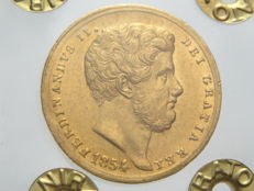 Kingdom of the Two Sicilies – 6 Ducats 1854 – Ferdinand II – gold