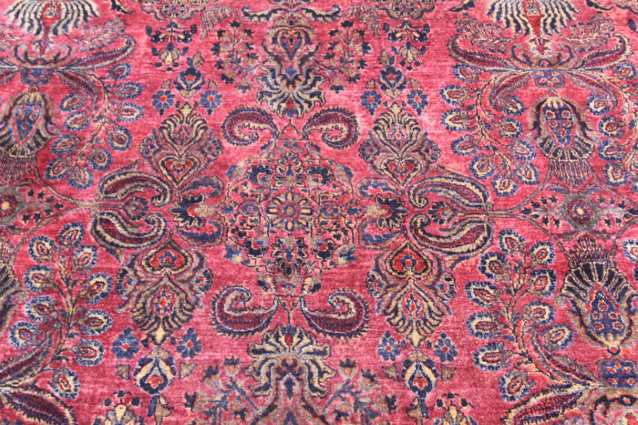 Antique Persian carpet, American Sarouk re-import around 1930 x 2.55 x 1.66, collector's carpet
