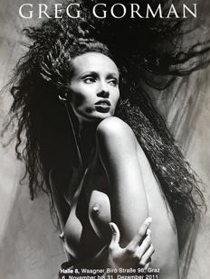 Greg Gorman - Iman (signed) - 2011