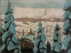Three prints by Emerich Schaffran (1883-1962)-Various Alps scenes - 1930