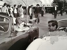 (Michou Simon/Paris Match - Brigitte Bardot and Roger Vadim - St Tropez - 1956