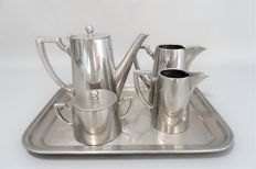 F.W. & J. Germany 10/10 Stainless Steel Tea Coffee Serving Set.