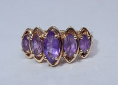 Amethyst ring - 1.12 ct.