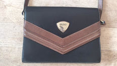 Gucci - black, brouwn leather shoulder bag - *** No reserve price ***