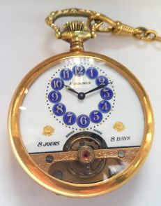 Hebdomas 8 days pocket watch - Switzerland , 1900s