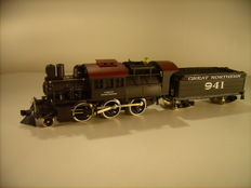 "Mehano H0 - 23166 - Steam locomotive Mother Hubbard ""Camelback"" of the Great Northern."