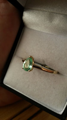 The Rarest Gemstone on the Planet. Genuine 0.59ct PARAIBA Tourmaline dress ring. Very rare!!!