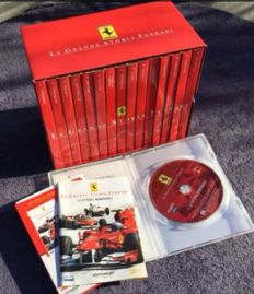 Ferrari 15 DVDs collection. La grande storia Ferrari plus Ferrari campione del mondo 2000. 47 plastic cards