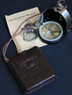 Original Wehrmacht Third Reich Bezard Lufft Compass including case - carrying cord and instructions - 1933-1945. WWII