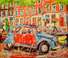 Mathias - Canal of Amsterdam, rainy citroen