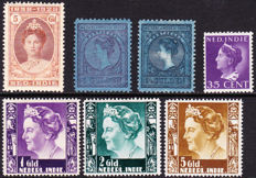 Dutch East Indies 1906/1941 – Selection of stamps – NVPH 60, 61, 166, 263/265 and 280