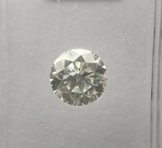 0.92 ct Round cut diamond E VVS2