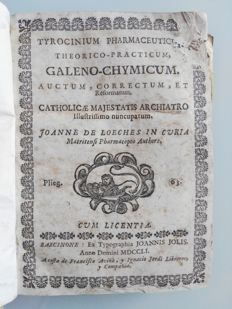 Joanne of Loeches - Tyrocinium Pharmaceuticum, Theorico Practicum, Galen Chymicum - 2 volumes bound as 1 - 1751