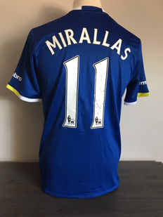 Kevin Mirallas Everton home shirt 2016-2017 personally signed + photo of the signing time + certificate of authenticity