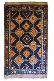Luri, hand-knotted rug from West Iran, from around 1930 - 80 years old