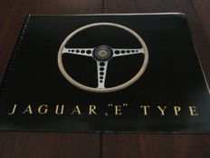 Jaguar E-type ring binder brochure.