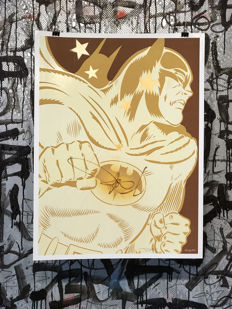 Dillon Boy - Gold Batman - Graffiti Art