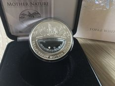 Fiji - 1 Dollar 2012 'Treasures of Mother Nature - Russia Topaz White' - 20 g silver