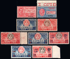 Italian Colonies - Libya - Collection of express mail stamps