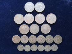 Silver lot from Portugal 21 coins, from 1891 to 1960. All different.