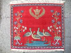 Semi-antique hand-knotted Persian carpet, Kashan - 85 x 73 - Around 1935