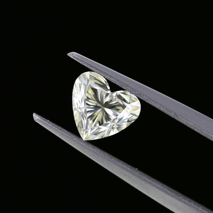 1.01 Ct. Natural N Color VS1 Heart shape Diamond.