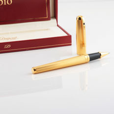 Dupont Olympio ballpoint pen, gold-plated