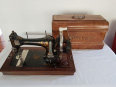 Kohler sewing machine with original chest, first half 20th century