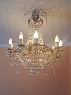 Fountain type crystal lamp, Spain, 40´s