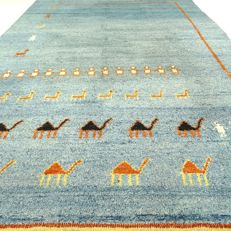 Gabbeh - 241 x 166 cm - modern, Persian eye-catcher - clean carpet in mint condition - with certificate