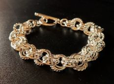 Bracelet in silver 925 with triple links of 20 cm in length