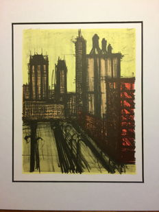 Bernard Buffet - Vintage prints  - New York series - no. 58 - 1967
