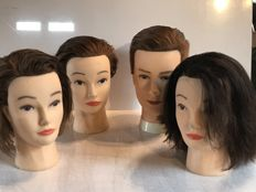 lot of 4 styling heads from the 1990s France