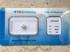 0.37 ct diamond in brilliant cut G VS2