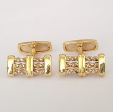 Solid 18 kt gold cufflinks - Size:17 mm x 8.5 mm