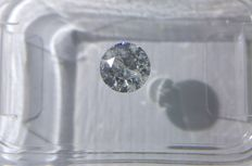 0.50 ct Round cut diamond E SI3