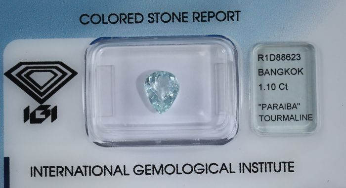 Paraiba Tourmaline - 1.10 ct - Neon Green