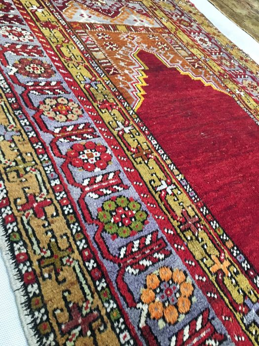 Gorgeous collector's vintage hand-made rug  Kula – Antique, Turkey – 160 x 102 cm, circa 1930