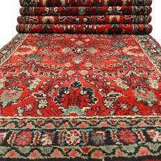 """Hamadan Sarough - 308 x 85 cm - """"Persian Empire decorated runner in beautiful condition"""" - With certificate"""