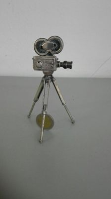 Arriflex video camera, silver 925 miniature